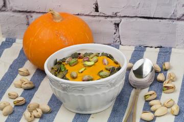 Pumpkin cream-soup