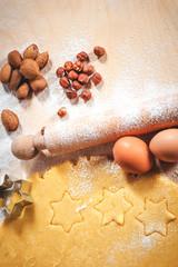 The dough for baking Christmas