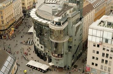 Haas Haus am Stephansplatz von oben, Wien