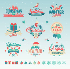 Christmas vintage typography design