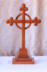 Old cross in church, Bibury England