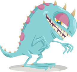 fantasy monster cartoon illustration