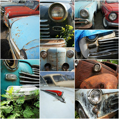 car,rusty,old,collage