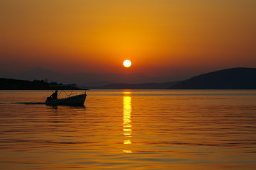 Sunset in Greece