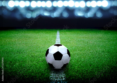 soccer field and the bright lights - 73270930