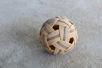 old rattan ball