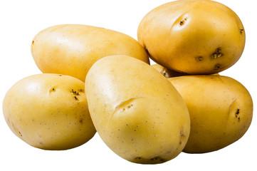 White potatoes fresh picked