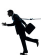 business man catched by lasso rope silhouette