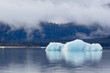 Leinwanddruck Bild - Melting iceberg in Mendenhall Lake