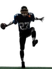 triumphant american football player man silhouette