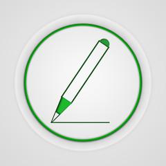Pencil circular icon on white background