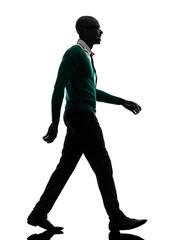 african black man walking silhouette
