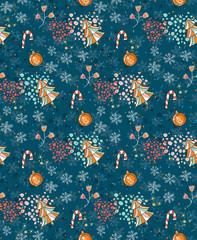 Beautiful seamless pattern for Christmas.