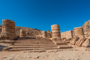 roman temple in Nabatean city of  Petra Jordan