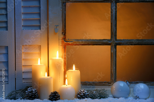 canvas print picture Christmas window