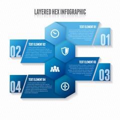 Layered Hex Infographic