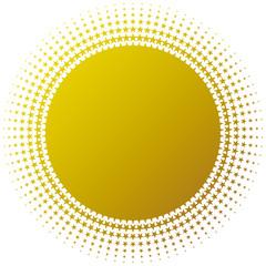 背景 円 星(ゴールド)