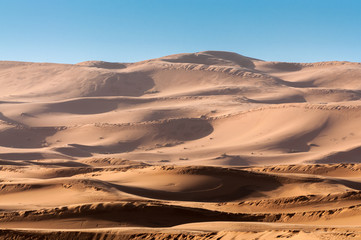Dunes in the sahara desert. Morocco, Africa