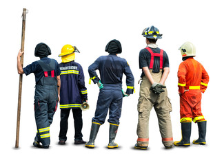 Fireman and rescue team