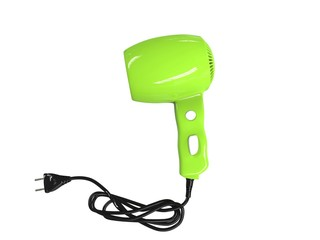 Small green hairdryer, side view