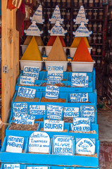 Oriental spices for sale in the medina of Essaouira, Morocco