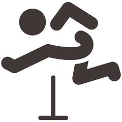 Running hurdles icon