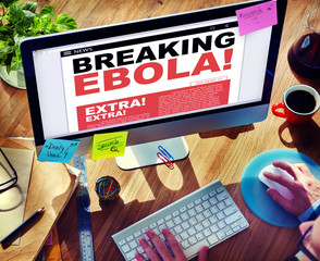 Digital Online Breaking News Ebola Crisis Concepts