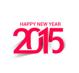Fototapety Happy new year 2015 Text Design