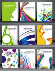 Set of Flyer Design.