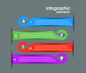 Business Infographic Vector Background.