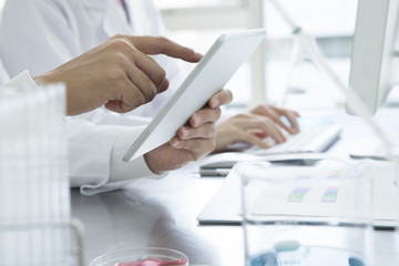 Researchers are using a tablet