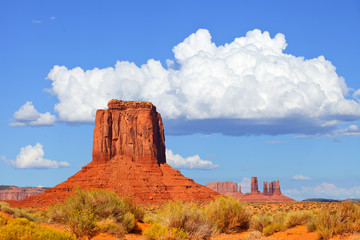 Monument Valley, USA colorful desert landscape