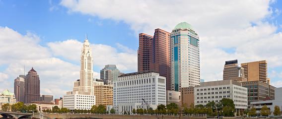 Columbus Ohio, USA downtown buildings