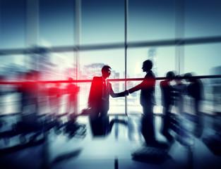 Businessmen People Office Handshaking Together Concept