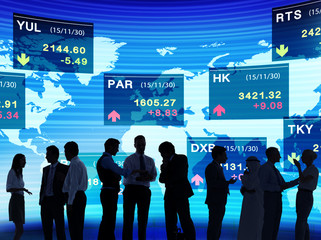 Business People Stock Exchange Concepts
