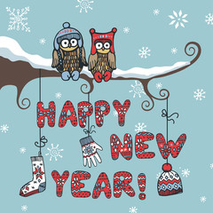 New year knitted letters,owl,accessories