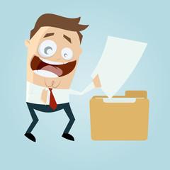 ordner datei ablage dokument business mann