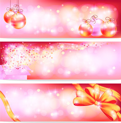 Pink celebration and sales ornament banner background, create by