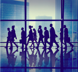 Silhouette Group of People Walking Concepts