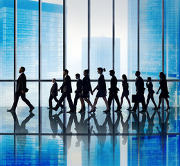 Business People Corporate Travel Walking Office