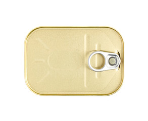 Easy open sardine can with the pull tab