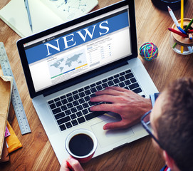 Digital Online Global News Update Concepts