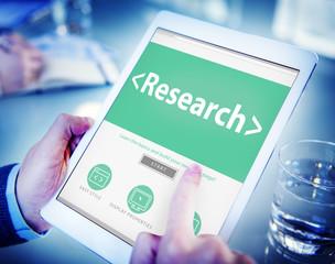 Digital Online Website Research Concepts