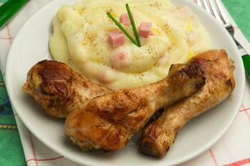Pollo arrosto e purè