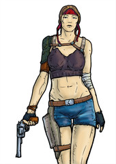 Девушка с револьвером
