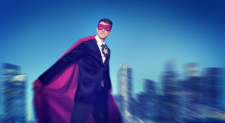 Powerful Business Superhero Cityscape Concepts