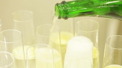 Spilling champagne
