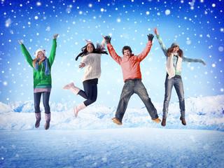 Christmas Celebration Friendship Winter Happiness Concept