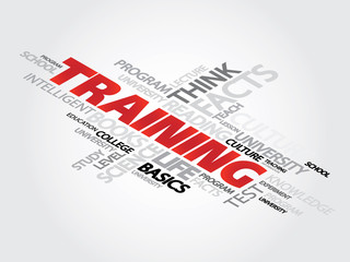 Training Word Cloud Concept, trade, knowledge, presentation