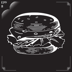 Hamburger. Fast food 2